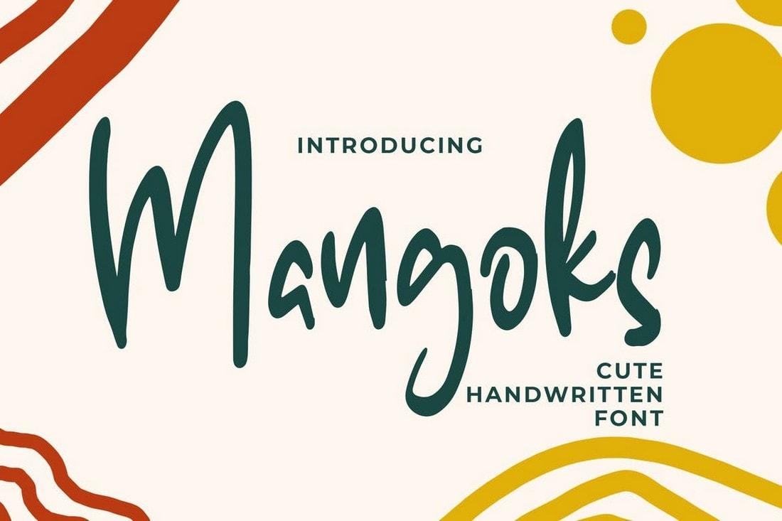 The Mangoks - Cute Handwritten Font