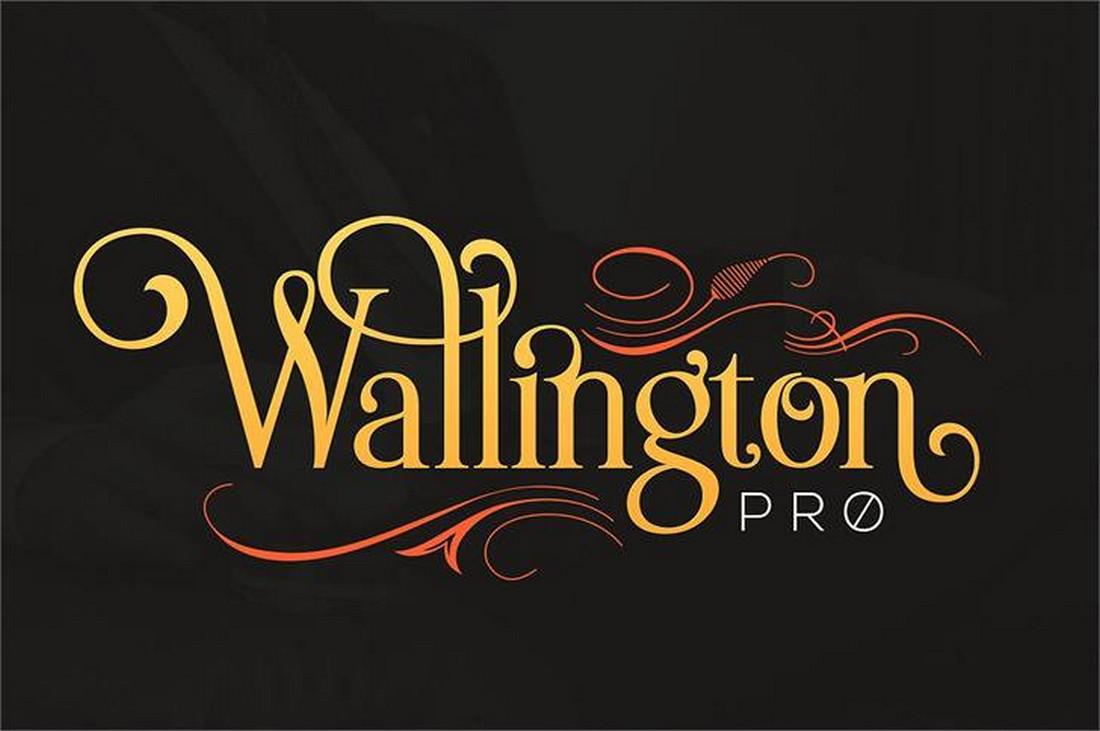 The Wallington Pro Font - Font Art Nouveau Gratis