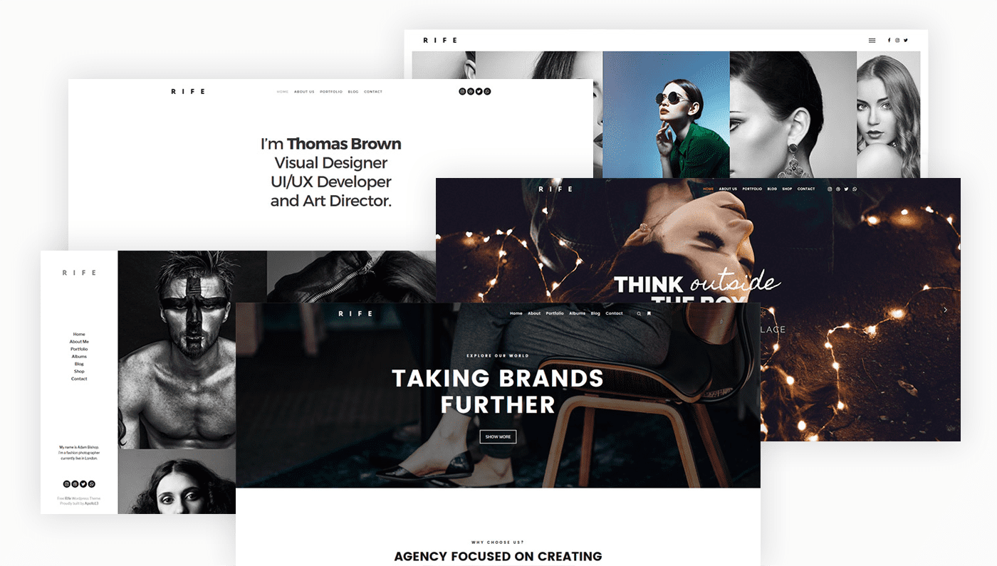 Rife - Creative & Photography WordPress Theme
