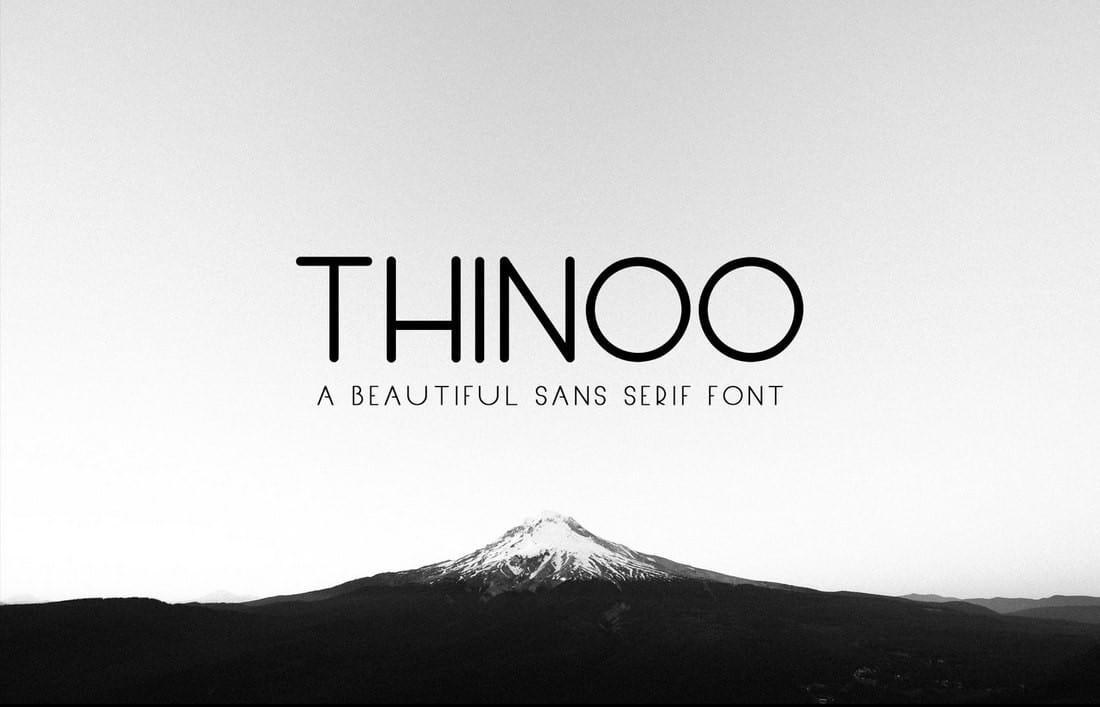 Thinoo - Free Sans Serif Font