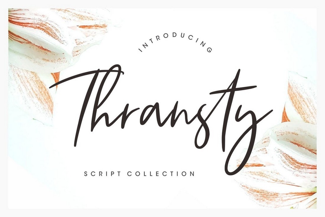Thransty - Handwritten Script Font