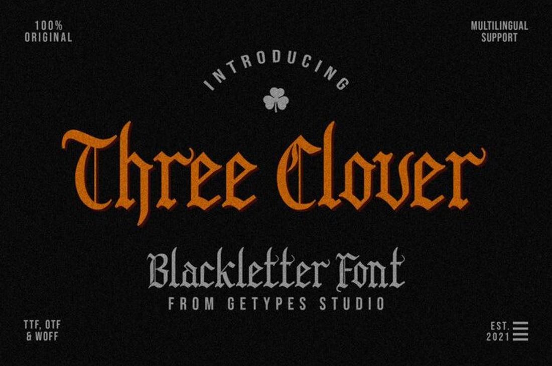 Three Clover - Font Band Metal Gratis
