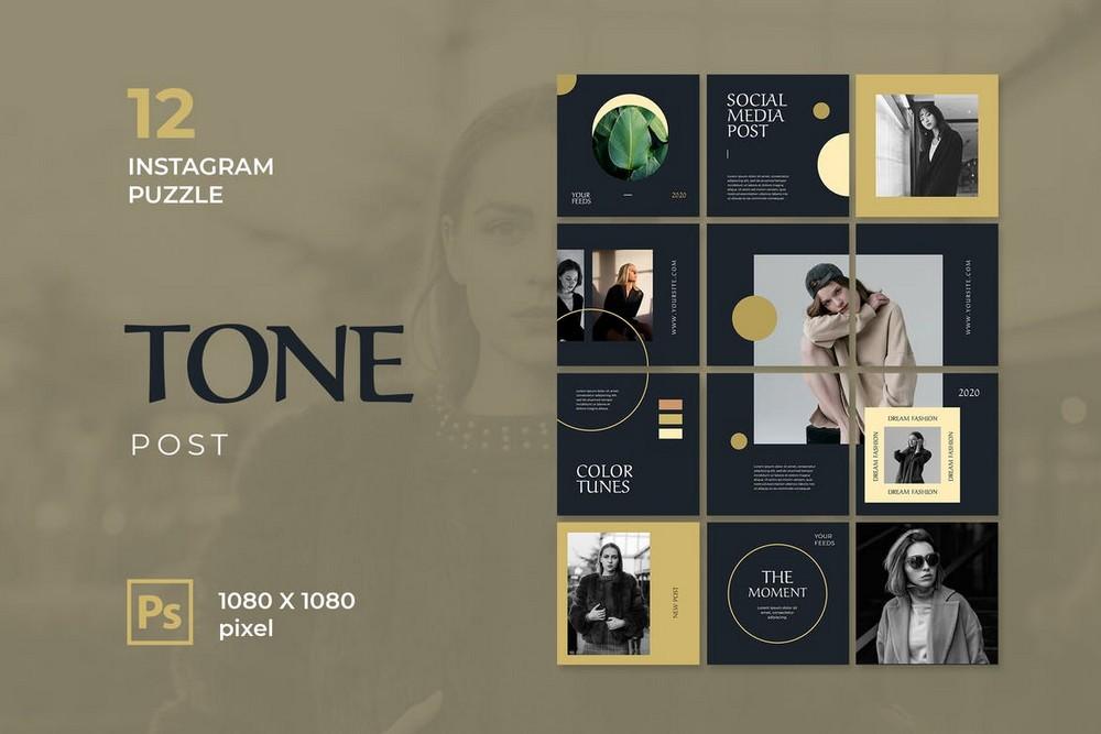 Tone - Branding Instagram Grid Template