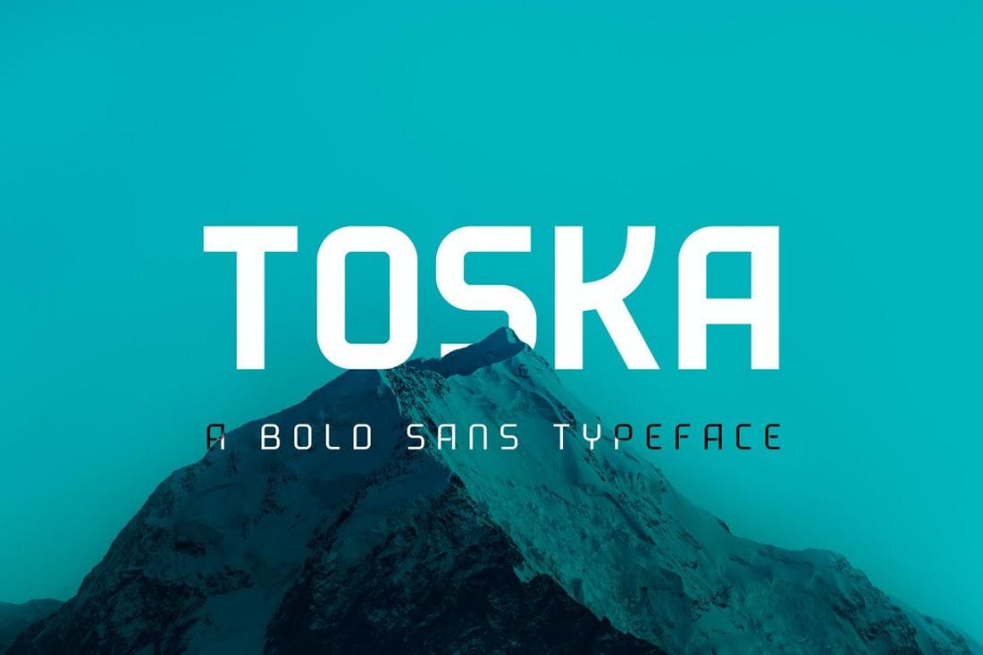 Toska - Font Geometris Tebal