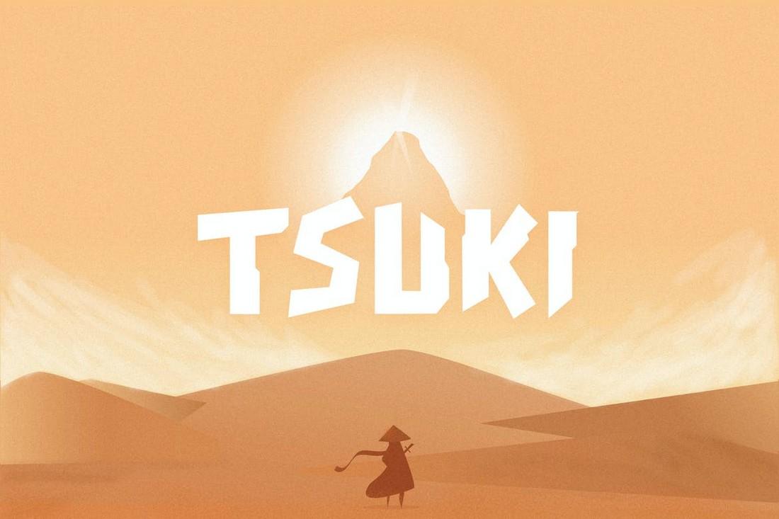 Tsuki - Font Manga Jepang Lucu