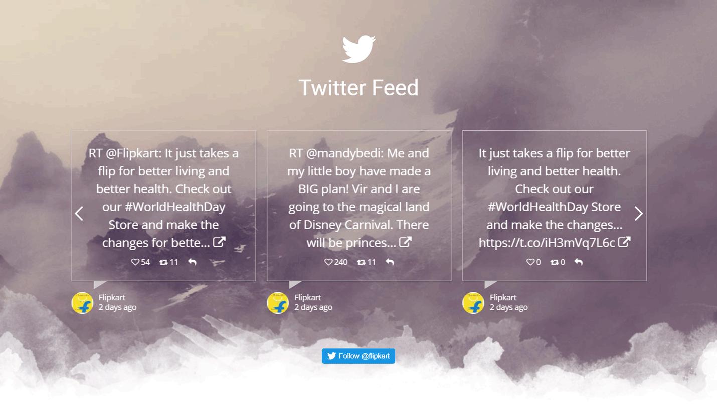 Twitter Feed Grid Plugin