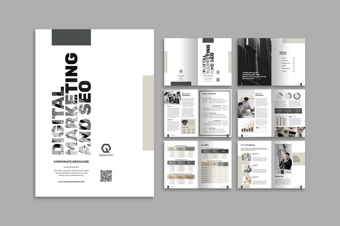Typographic Brochure template