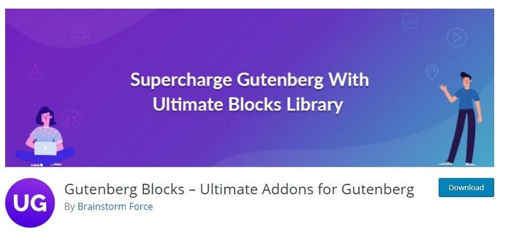 Addons Ultimate untuk Gutenberg