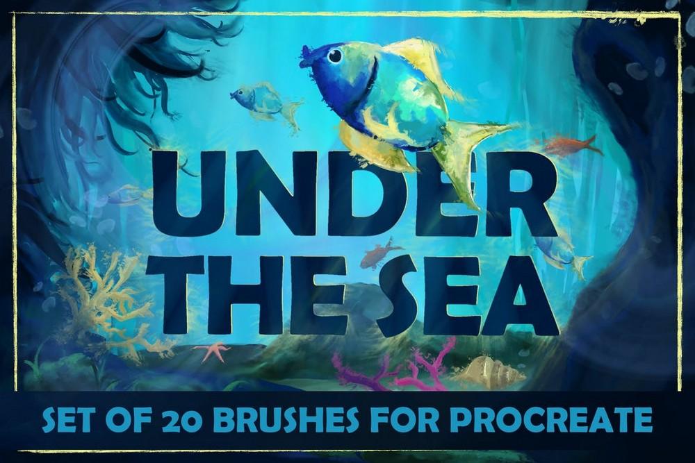 Under The Sea - 20 Procreate Brushes