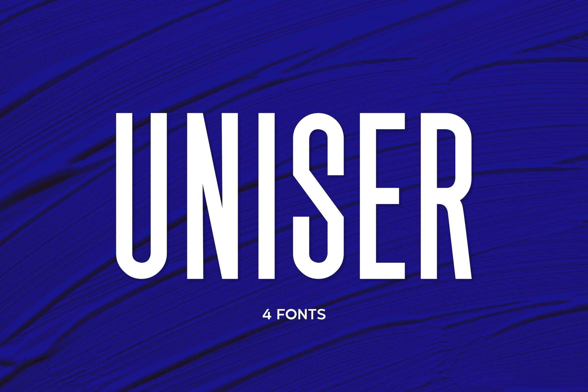 Uniser - Condensed Sans