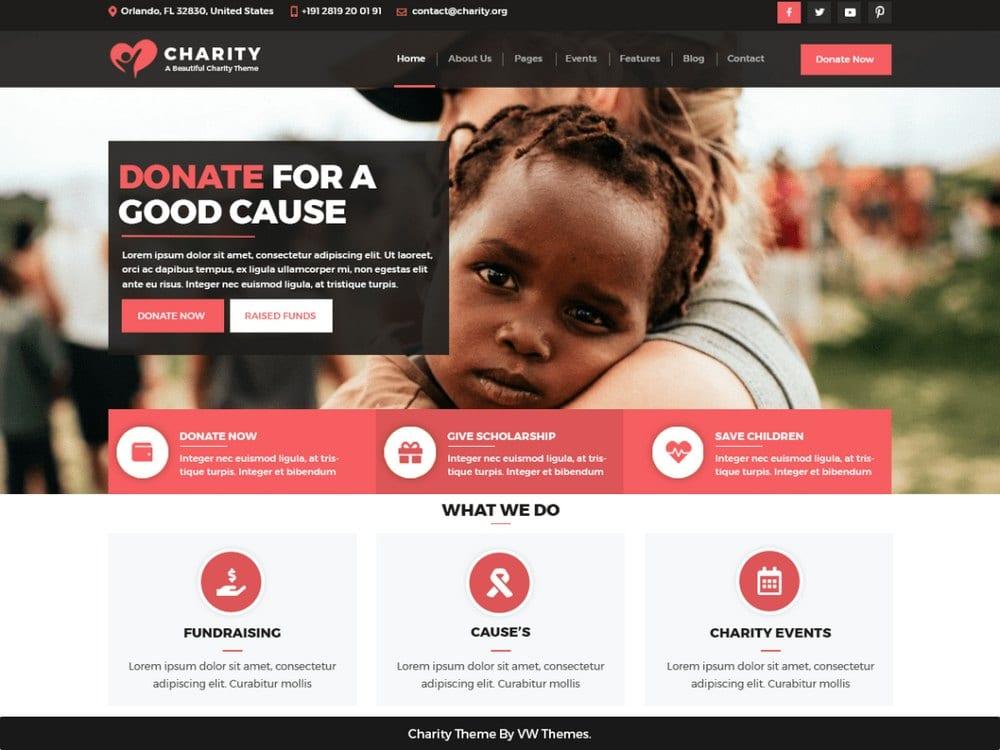 VW Charity NGO-free-church-wordpress-theme