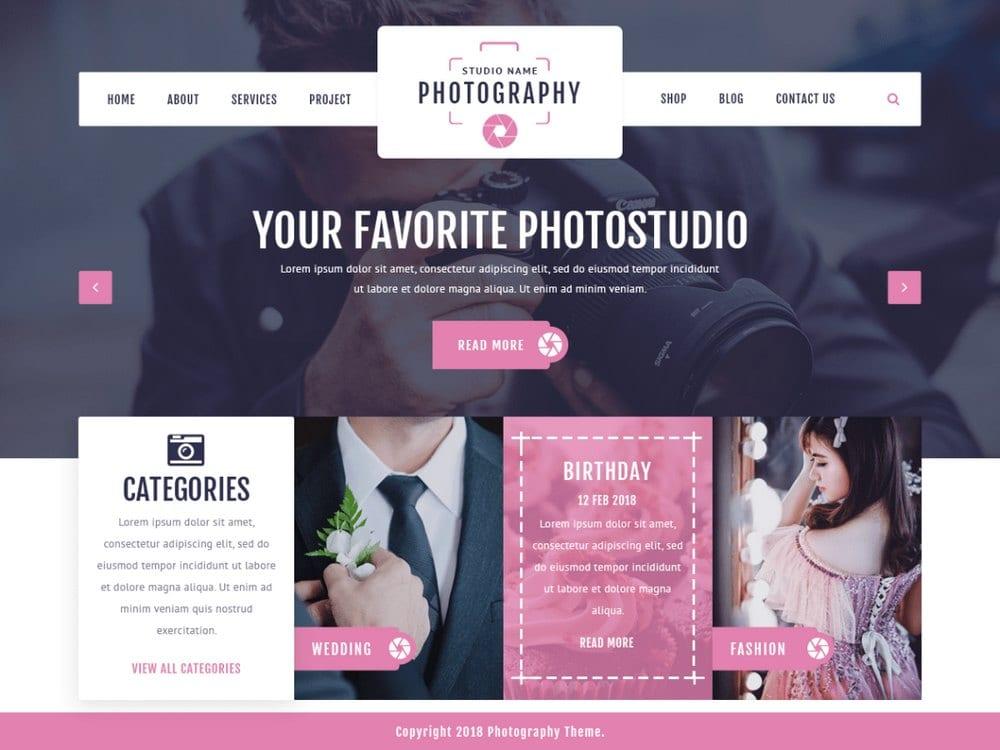 VW Photography - Tema Fotografi WordPress Gratis