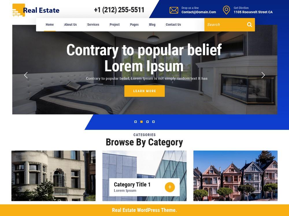 VW Real Estate - Free WordPress Theme