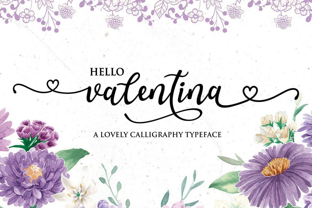 Valentina - Decorative Calligraphy Wedding Font