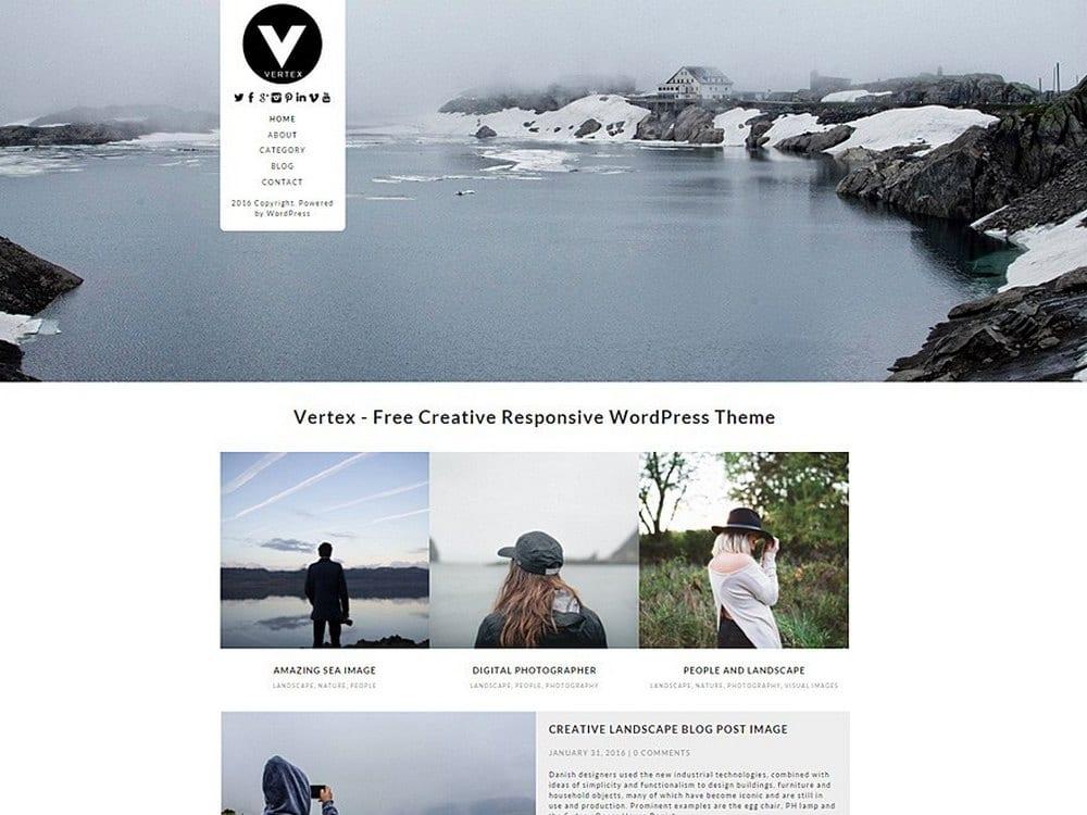Vertex - Tema Fotografi WordPress Gratis