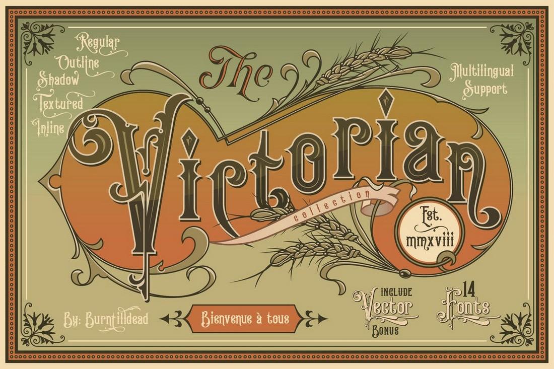 Koleksi Victoria - Font Art Nouveau