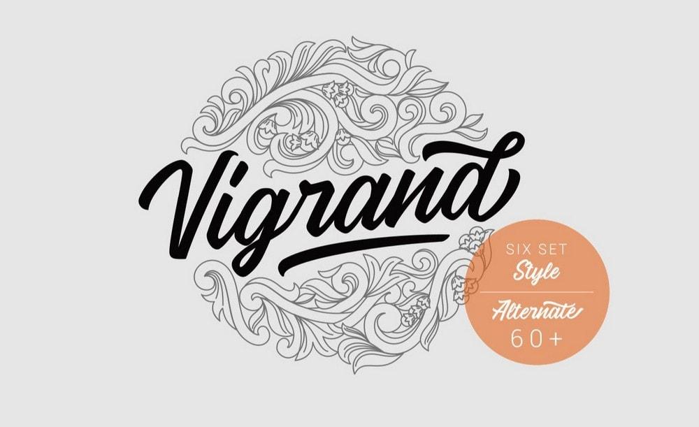 Vigrand - Free Vintage Script Font