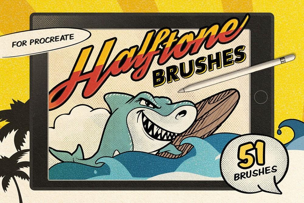 Vintage Comic -51 Procreate Brushes