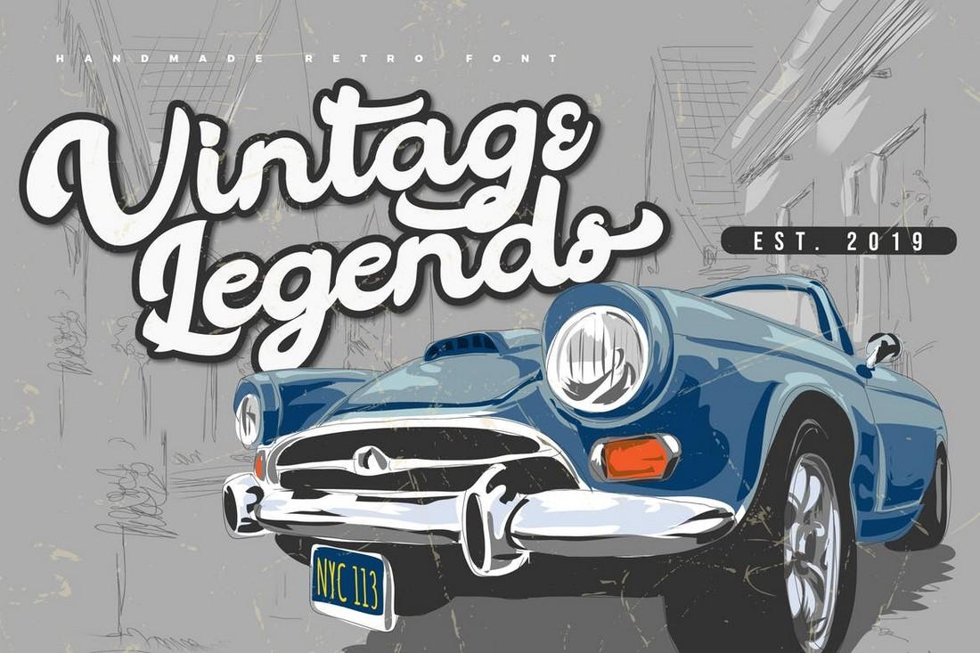 Vintage Legends - Handwritten Retro Font
