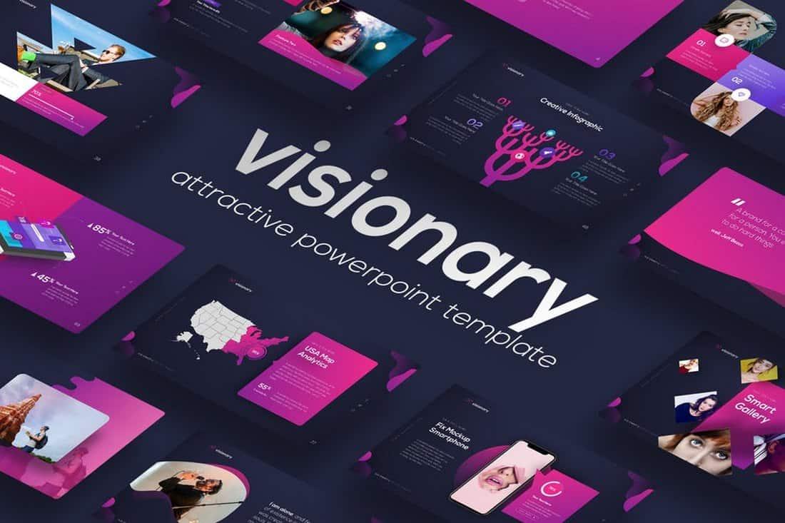 Visionary - Dark PowerPoint Template