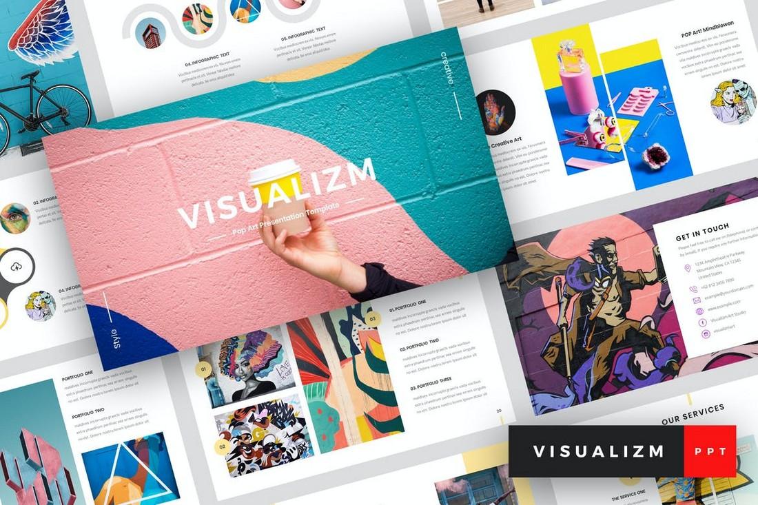 Visualizm - Templat PowerPoint Seni Pop Kreatif