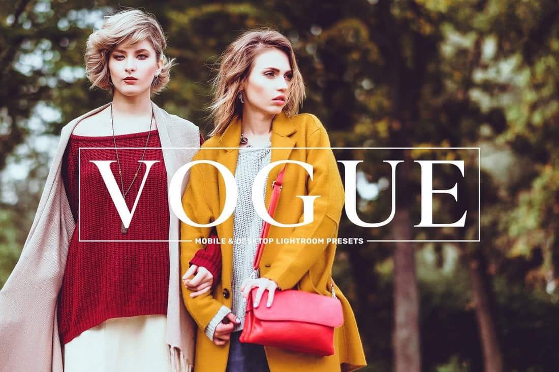 Vogue - Fashion Lightroom Presets Pack