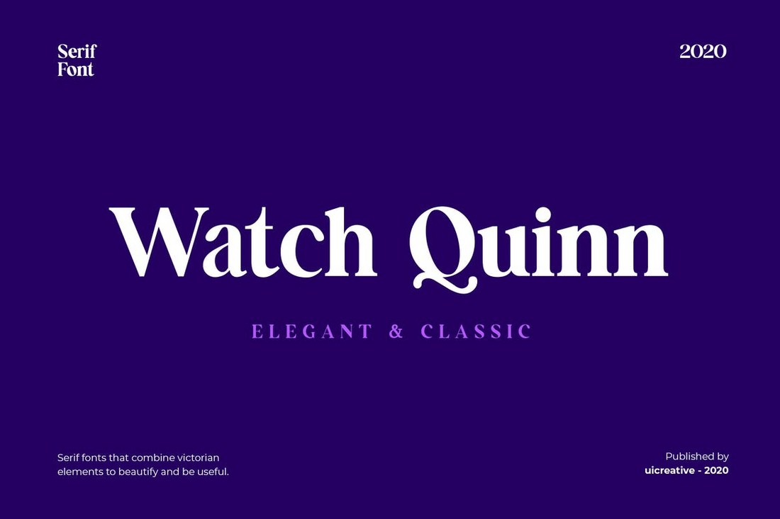 Watch Quinn Serif Font for Business Cards
