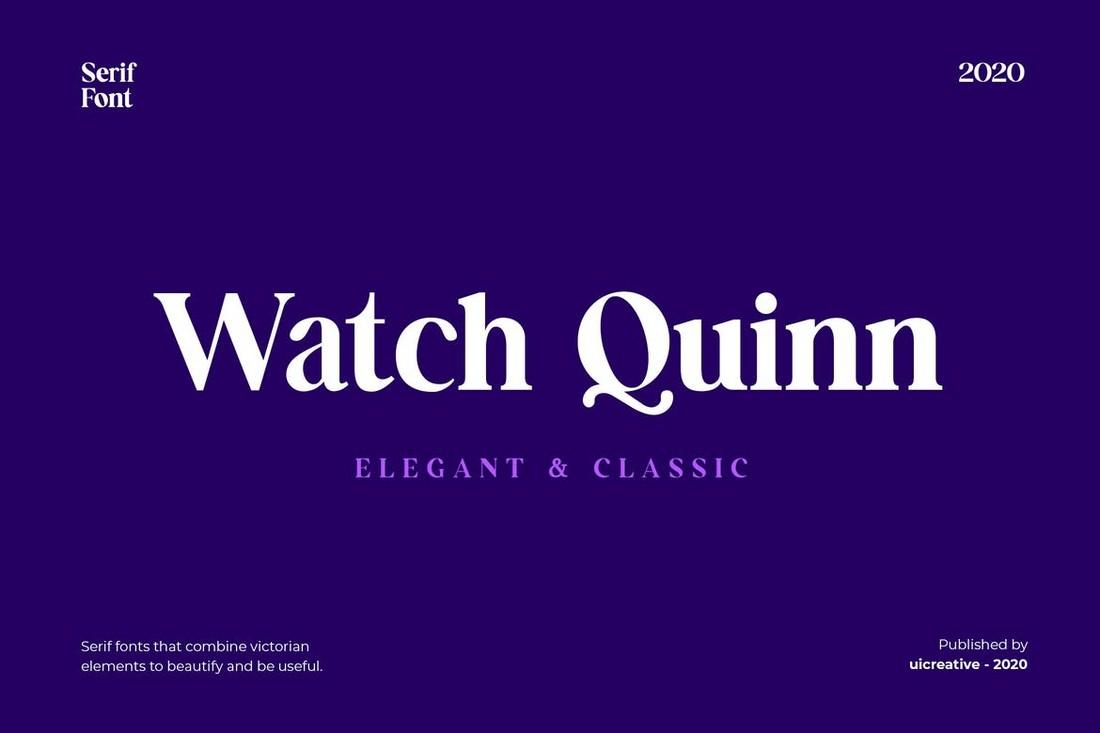 Tonton Font Quinn Serif untuk Kartu Nama
