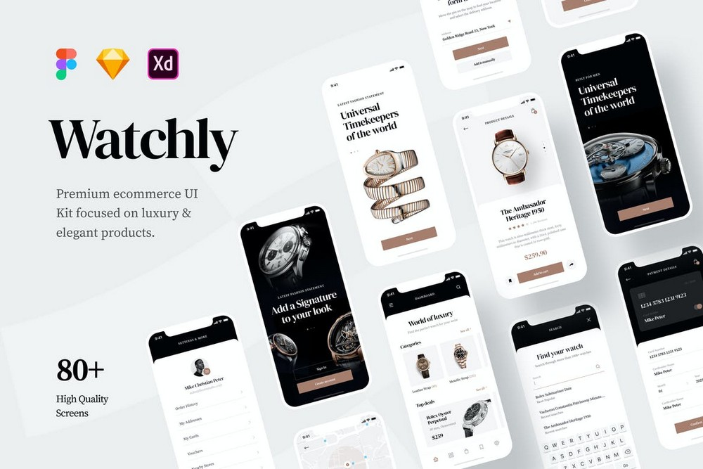 Watchly - Ecommerce Figma UI Template Kit