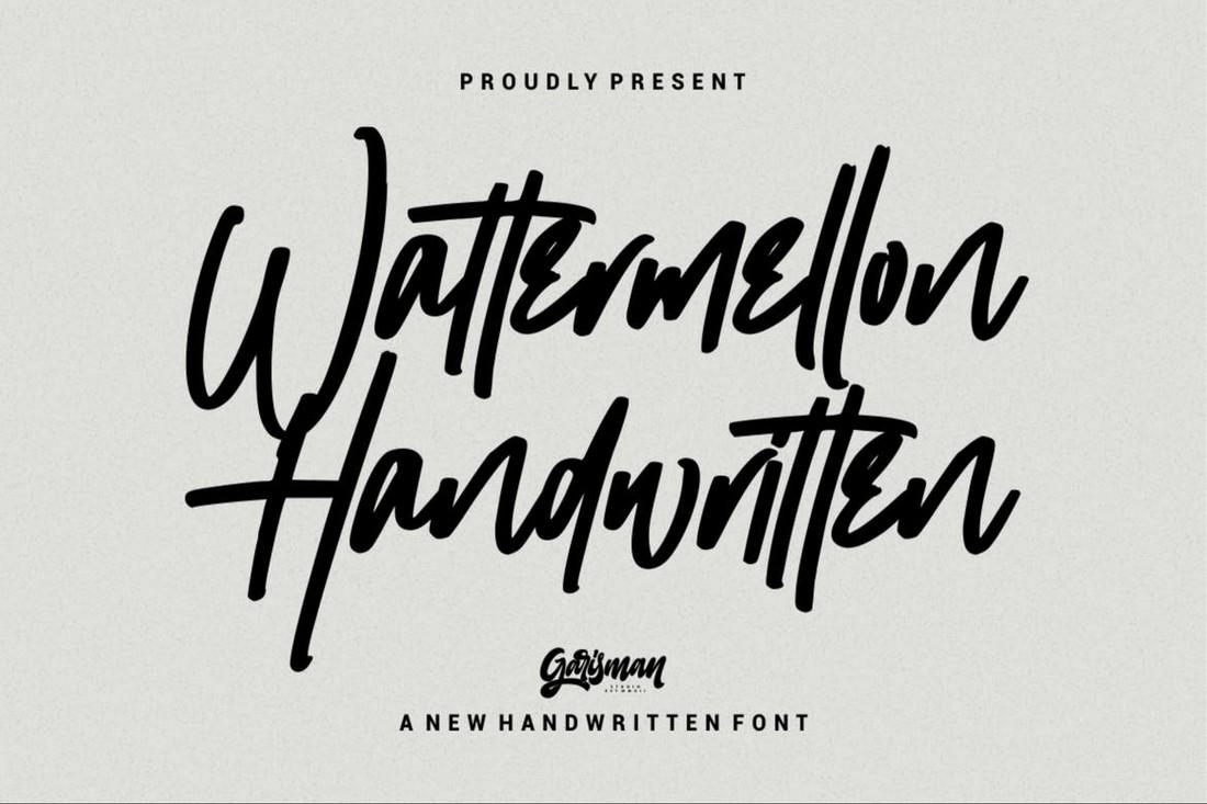 Wattermellon - Font Procreate Tulisan Tangan