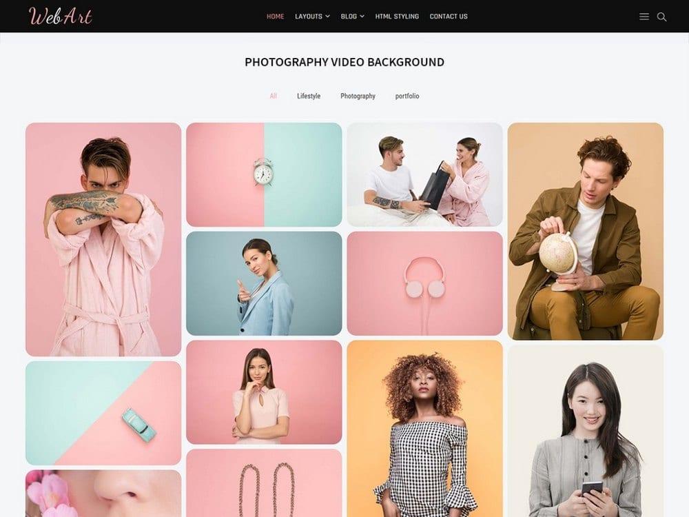 Webart - Free WordPress Photography Theme