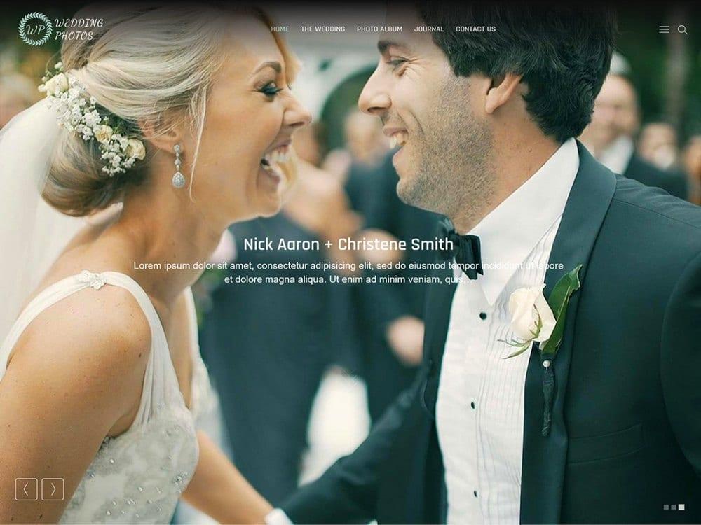 Fotografi Pernikahan - Tema Fotografi WordPress Gratis