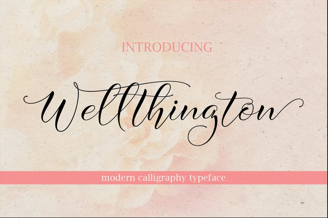 Wellthington - Modern Wedding Calligraphy Font