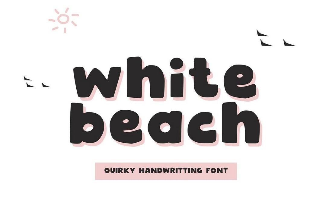 White Beach - Font Tulisan Tangan untuk Cricut