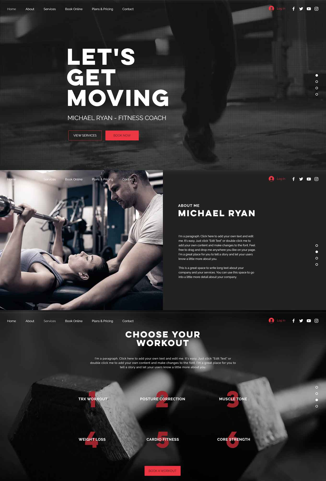 Fitness Coach Wix Template