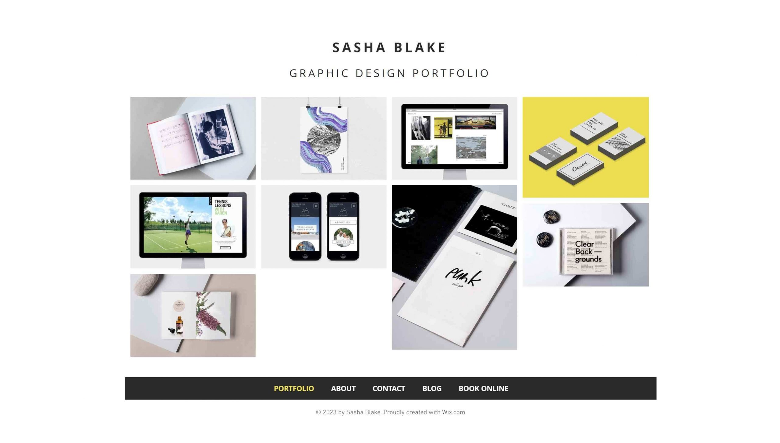 Graphic Design Portfolio Wix Template