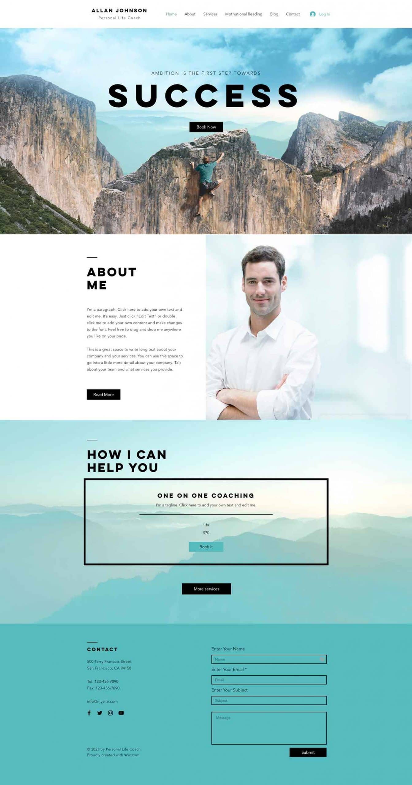 Success Coach Wix Template