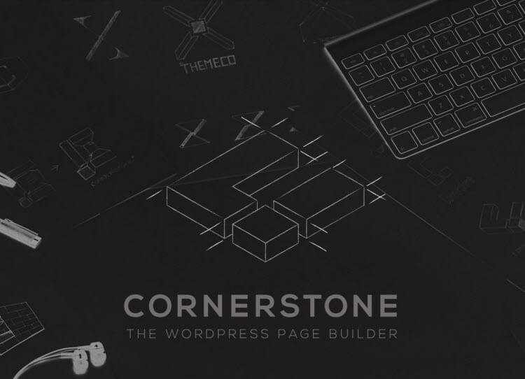 X WordPress Theme Review Cornerstone Builder Logo