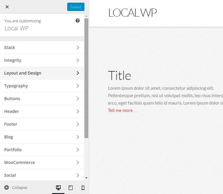 X WordPress Theme Review Customizer 01