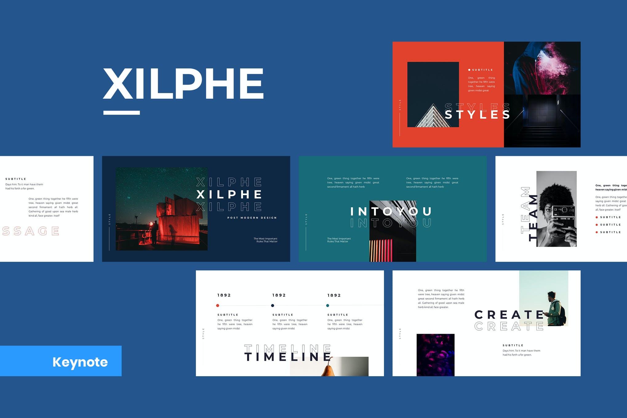 Xilphe Modern Keynote Template