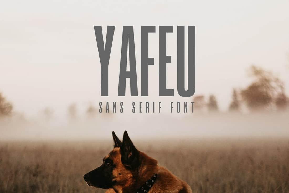 Yafeu - Sans Serif Font Family