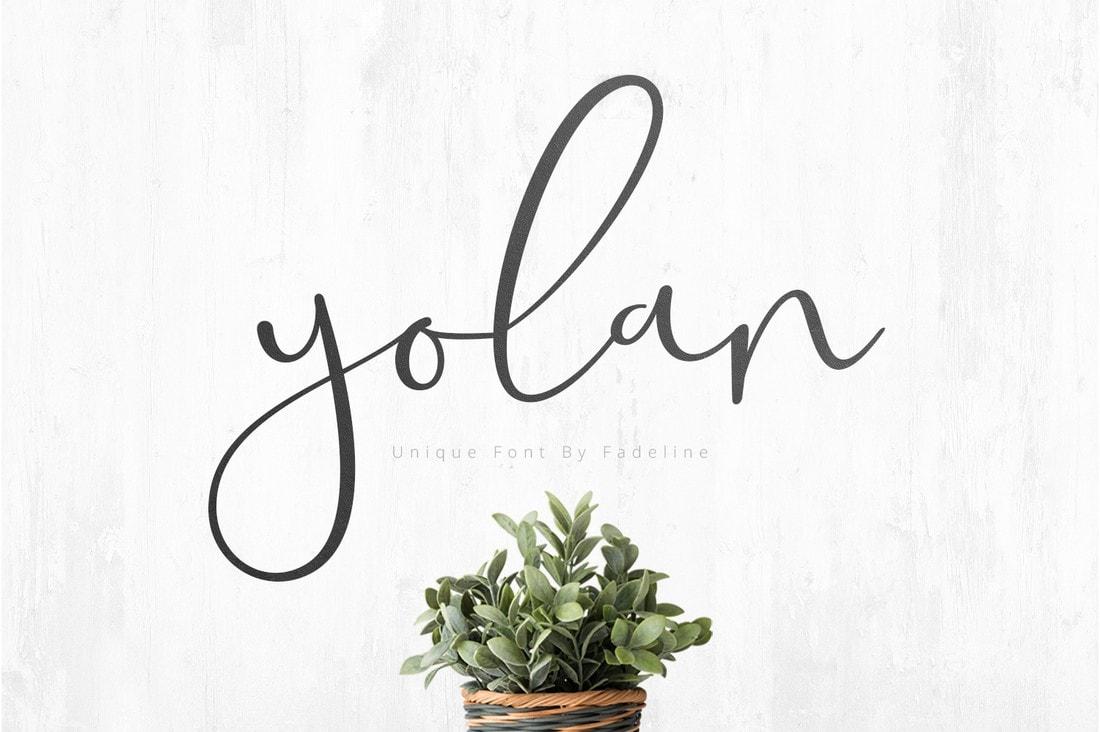 Yolan - Free Unique Handwritten Font