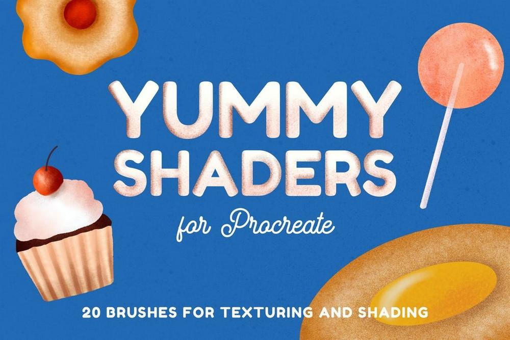 Yummy Shader Brushes for Procreate