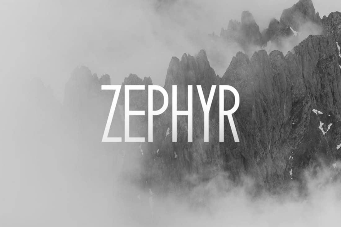 Zephyr - Modern Narrow Font