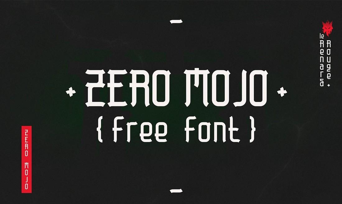 Zero Mojo - Font Tampilan Jepang Gratis
