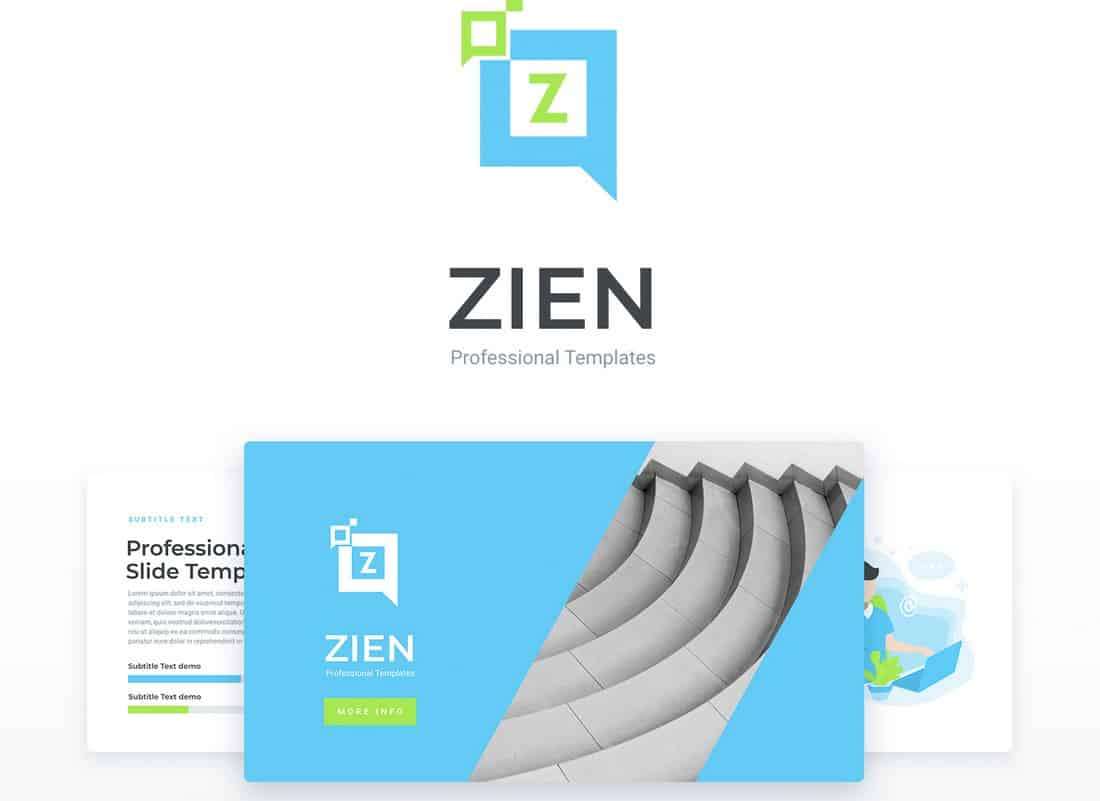 Zien - Free Animated PowerPoint template