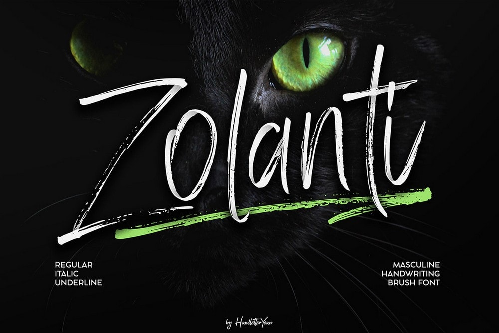 Zolanti - Free Handwritten Brush Font