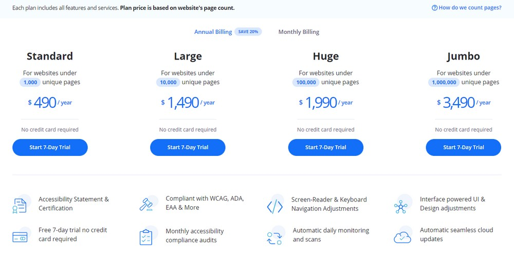accessibe pricing