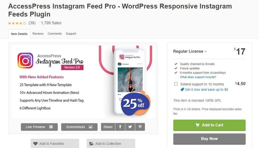 plugin accesspress instagram