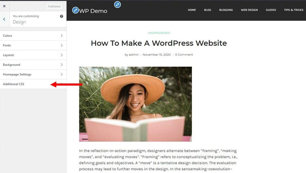 tambahkan css di wordpress 1